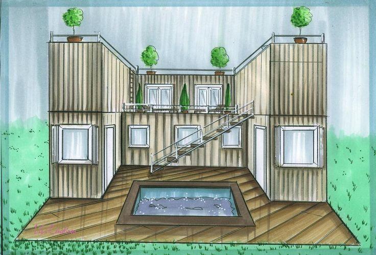 Les 10 meilleures id es de la cat gorie maisons containers for Maisons containers architecture