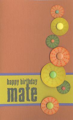 Stamp-it Australia: 3848D Birthday Mate, 3846E Multi Bindi Dots - Card by Susan
