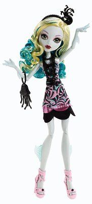 Monster High Black Carpet Lagoona Blue. I have this one, and I love her! Only her hair is not curly and perfect like the one in the picture. It's wavy and a teeny tiny bit frizzy.
