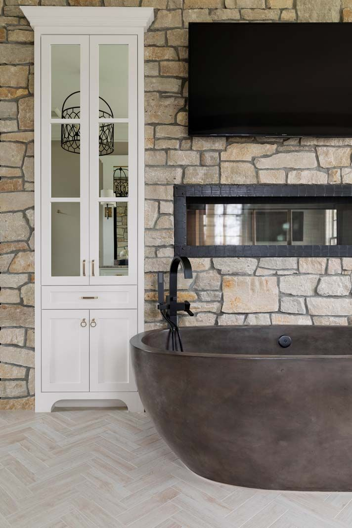 The Cast Concrete Tub In This Maple Lake Home Is Strategically