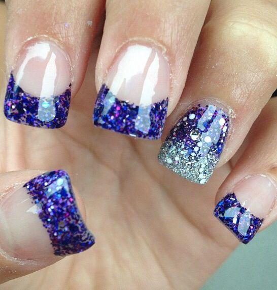 ... Blue Glittery, Solar Nails Design, Nails Idea, Nails 3, Nails Designs