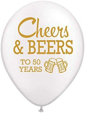 Amazon White Cheers And Beers To 50 Years Balloons 50th Birthday Party Balloon Set Of 3 Decorations An