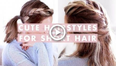 3 Easy Hairstyles For Short/Medium Length Hair #hair #hairstyles | hairstyles videos for medium length hair with layers for school #Easyhairstyles