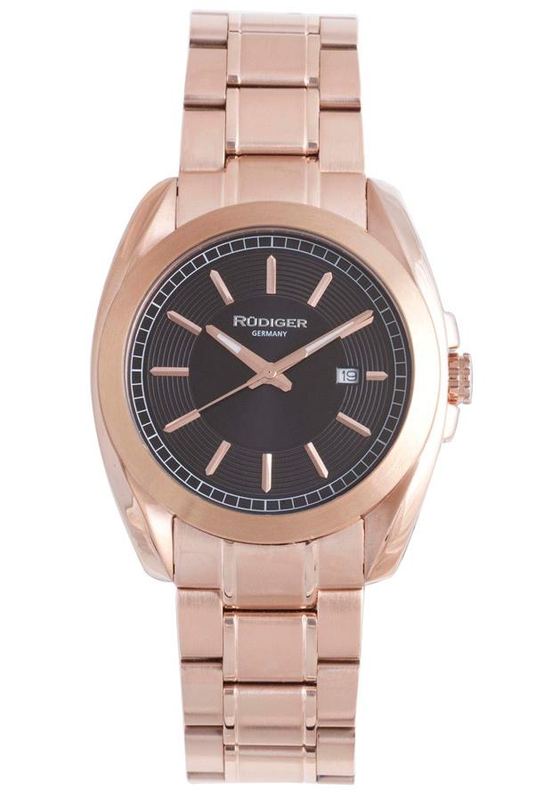 Price:$261.56 #watches Rudiger R1001-09-007, Rudiger Dresden Men's Round Black Watch