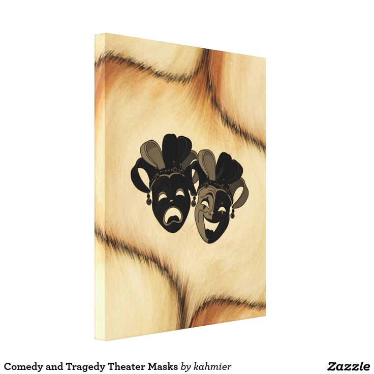 Comedy and Tragedy Theater Masks Canvas Print 25% off