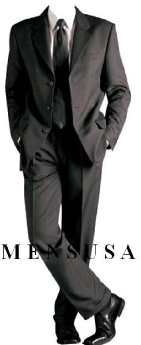 Look decent and attractive with classic cut solid black formal suit for men.