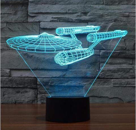 Star Trek Enterprise  3D illusion night light