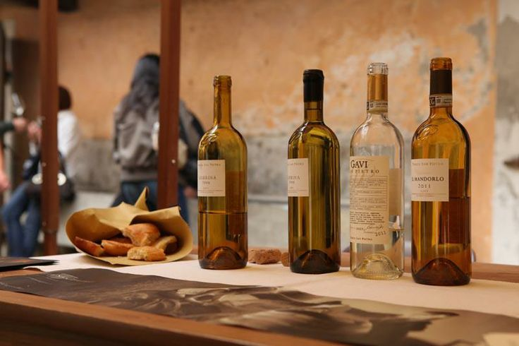 """Gavi wines for tasting. The Cortese grape is difficult to coax into a good wine, and Gavi knows how to do it best. It's a wine """"hung in balance."""""""
