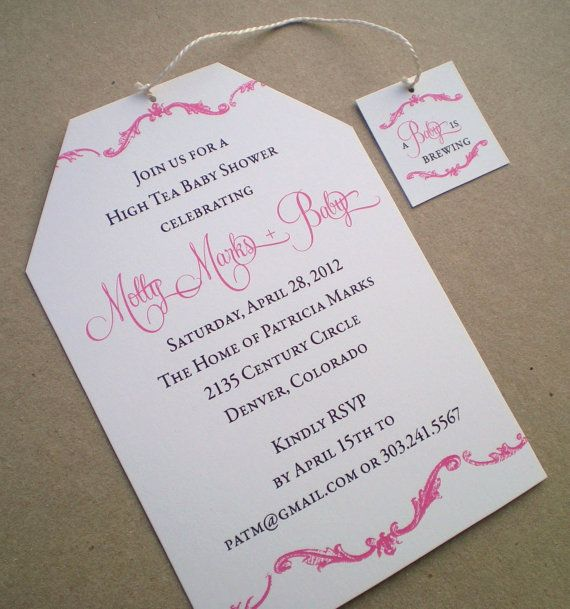 High Tea Baby Shower Invitation  Girl by ideachic on Etsy, $4.50