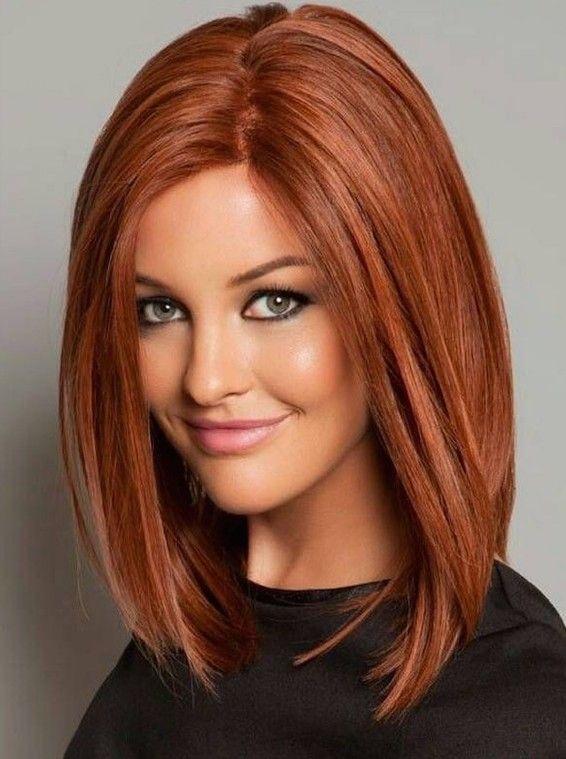 Omuz Hizası Tarçın Saç Rengi