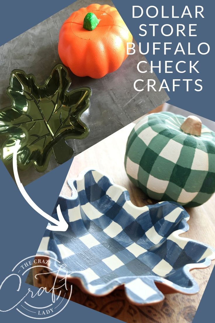 Fall Buffalo Check Painting – Two Dollar Store Crafts