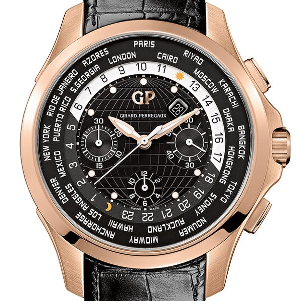 Girard-Perregaux Traveller WW.TC Pink Gold The new Traveller WW.TC watch in pink gold continues this long tradition; the perfect accompaniment for those accustomed to long journeys, this model is now available in a seductive pink gold version (See more at En/Fr/Es: http://watchmobile7.com/articles/girard-perregaux-traveller-wwtc-pink-gold) #watches #montres #relojes #girardperregaux @Jodi Wissing Wissing Wissing Girard-Perregaux