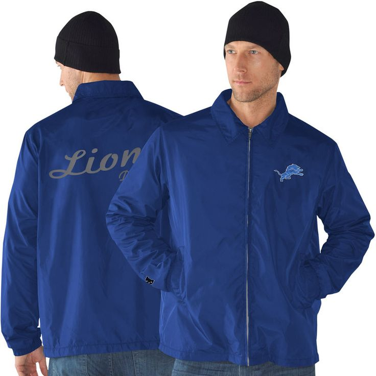 Detroit Lions Head Coach Full Zip Jacket - Light Blue