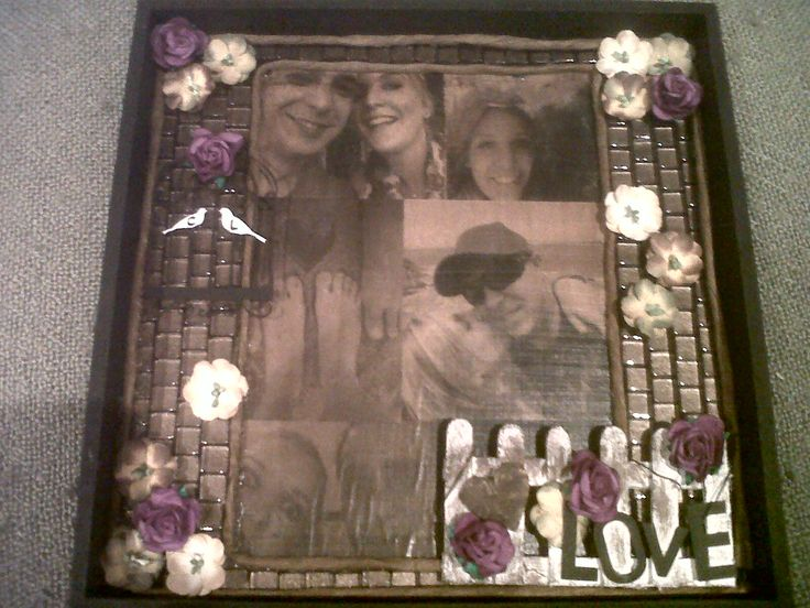 Small photo gift (photos transferred to wood)