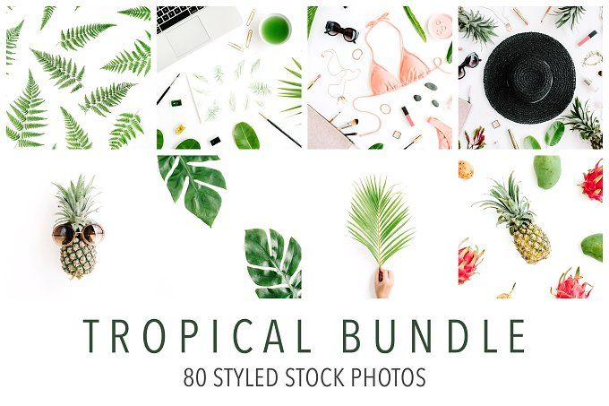 95% OFF! Tropical Bundle by Floral Deco on creativemarket, Styled Stock Photos,