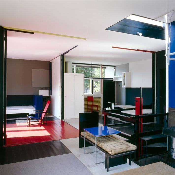 Gerrit Rietveld - maison Schröder - 1925 - Rompre avec les conventions - paroies qui coulissent