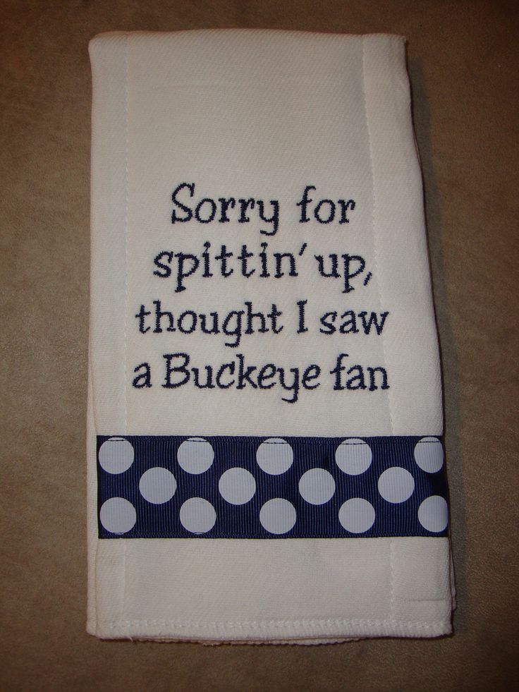 "Penn State Burp Cloth... Soo funny haha - I need to get this for my nephew...my brother-in-law would ""love this"""