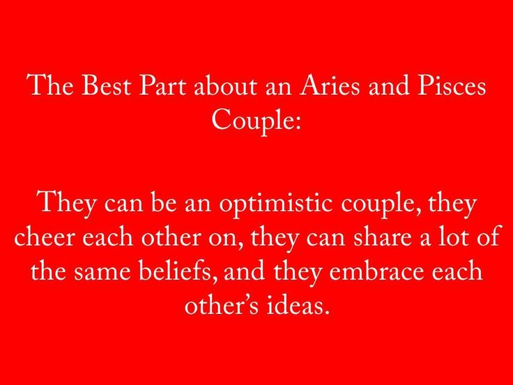 Aries and Pisces couple