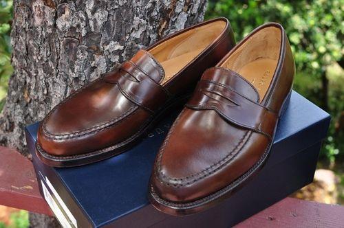 Crockett and Jones for Ralph Lauren shell cordovan penny loafers