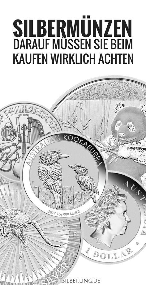 Silbermünzen kaufen - darauf müssen Sie beim erwerb von Münzen in Silber wirklich achten.
