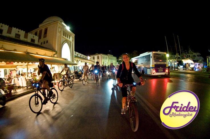 Friday night we bike the town