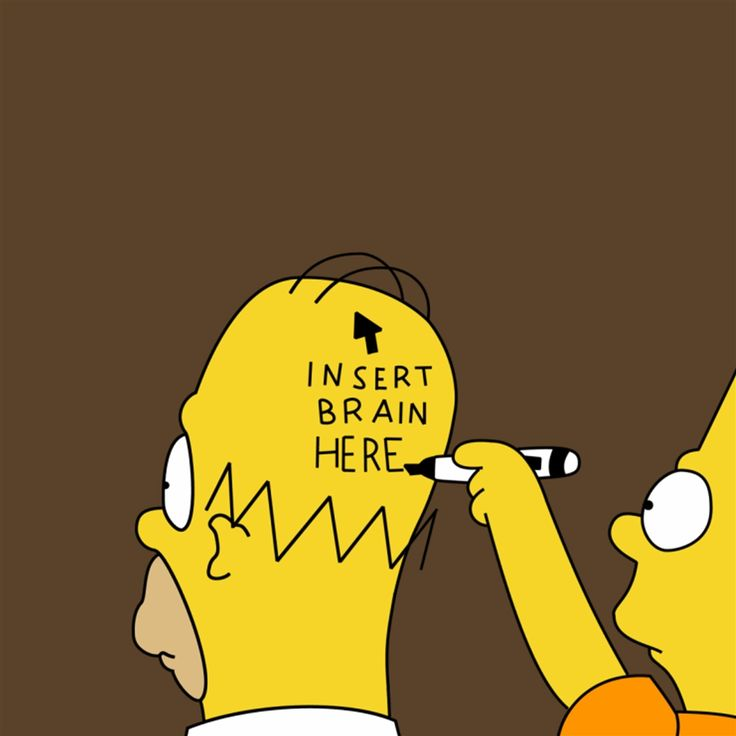 Insert Brain Here Simpson #Retina #iPad #Air #wallpaper