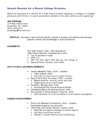 Student Resumes With no Experience - http://getresumetemplate.info/3788/student-resumes-no-experience/