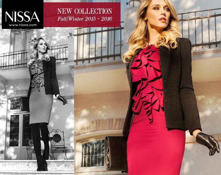 www.nissa.com  #nissa #dress #cocktail #fw2015 #winterwear #model #mood #look #style #fashion #fashionista