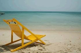 Playa en la Isla de San Bernardo cerca de Cartagena de Indias, Colombia