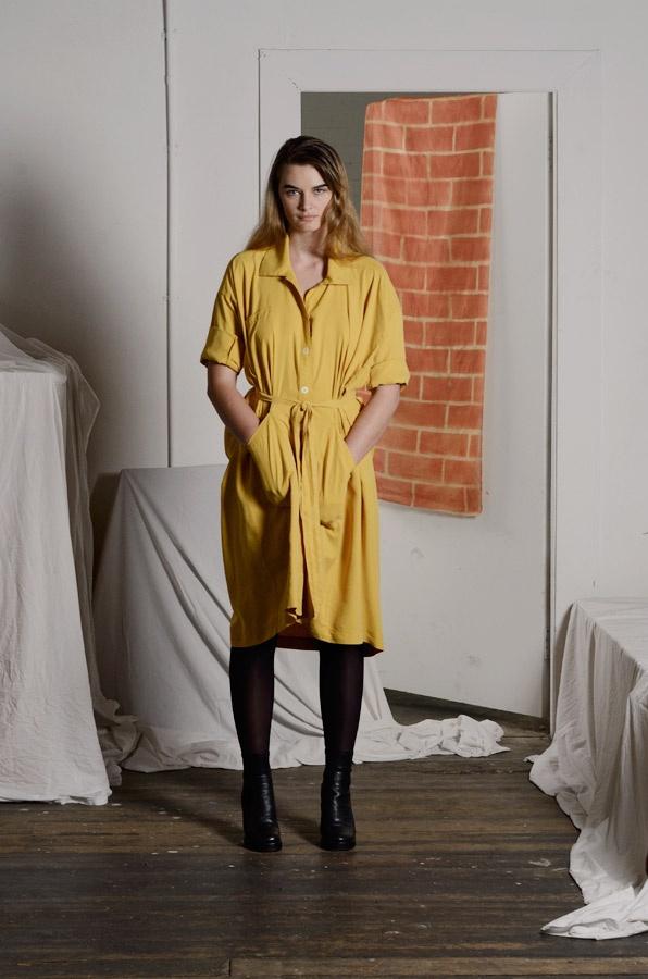 Noble Dress in Mustard