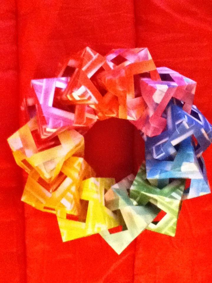 origami paper cube
