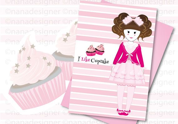 I Like Cupcake cartolina di nanadesignershop su Etsy