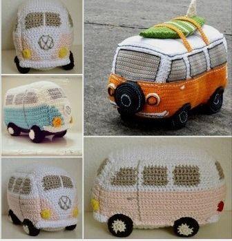 Combi van - Free Crochet Patterns