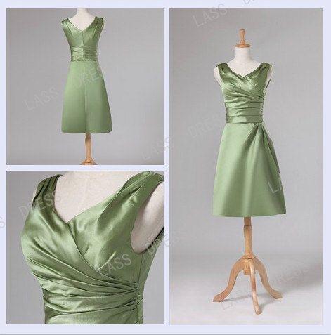 Sheath/Column  Vneck  Evening Short Dress by lassdress on Etsy, $68.00