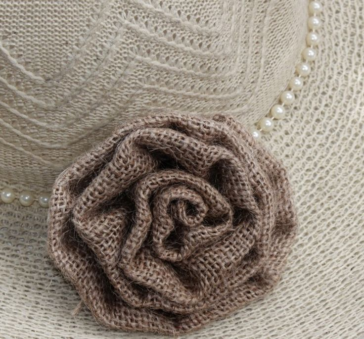 how to make burlap flowers without sewing