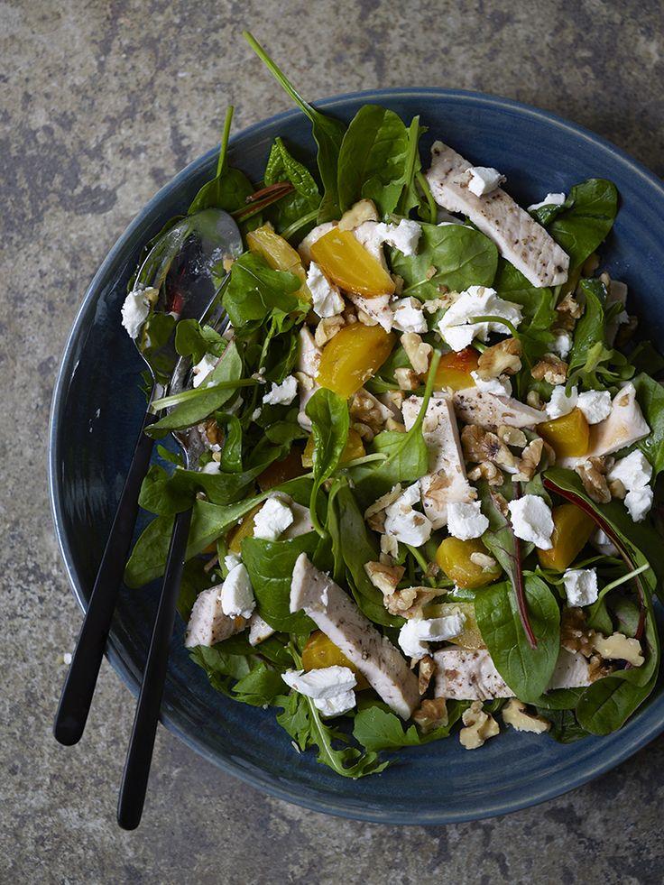 Salat med gulbeter og kylling