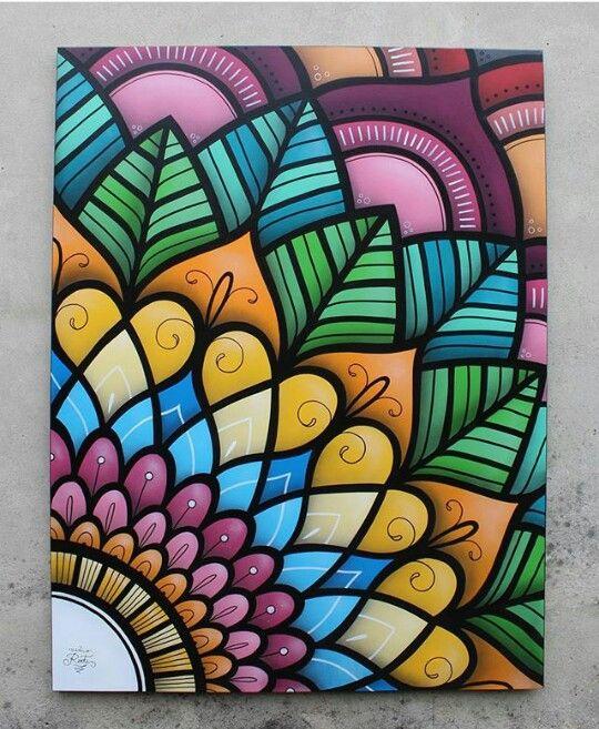 Mandala grafite pelo brasileiro @danroots