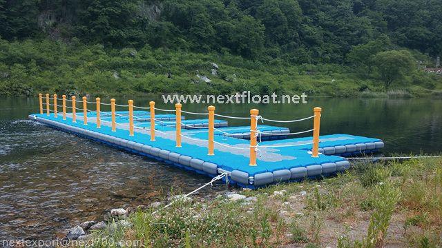 무주에 설치된 레프팅 계류장입니다.  It is a floating boat platform installed in Mu-Ju in Korea. #무주레프팅 #넥스트플로트 #nextfloat #floatingjetty