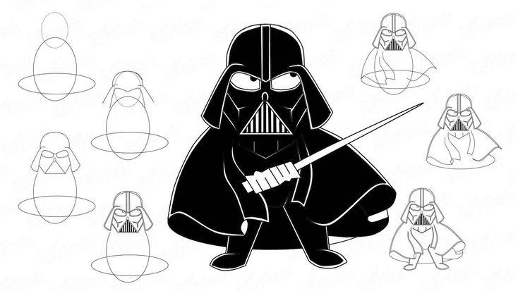 Картинки по запросу рисуем звездные войны   Звездные войны