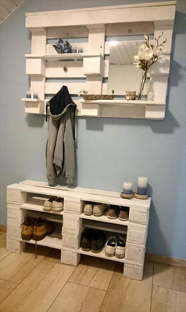 25 best ideas about paletten garderobe on pinterest for Garderobe como