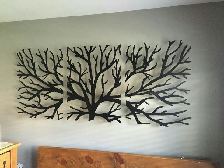 Wooden tree wall hanging