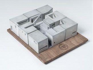 Architekturmodell aus Beton Miniature Concrete Homes (Complete Set) - Material Immaterial studio