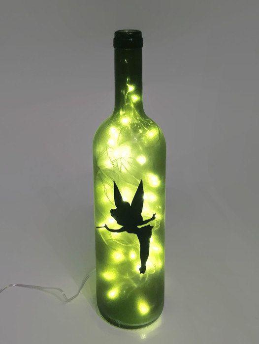Lampe bouteille vin Tinkerbell / fée lumière / par ShopOfBottles