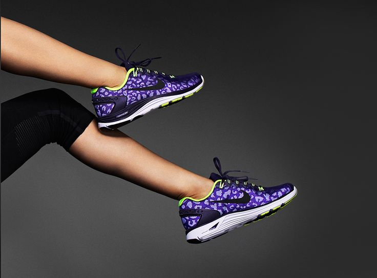 Pop of purple. And cheetah! These are beyond perfect for me! #nike #shoes #lunarglide