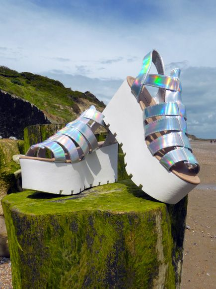 Iridescent gladiators. Find out more at http://wightcatwalk.co.uk/the-future-is-now/