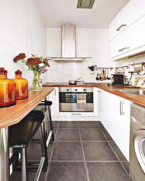 Mejores 30 imágenes de Cocinas pequeñas en Pinterest | Cocina ...