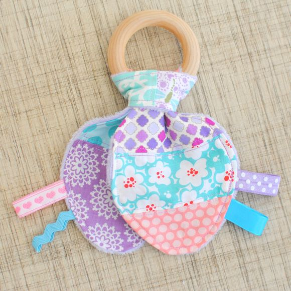 Patchwork & Ribbons Bunny Ear Wood Teether {tutorial}