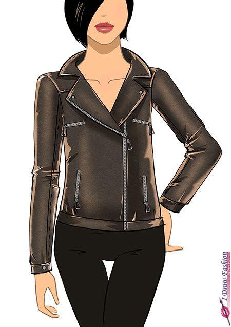 Leather Jacket Drawing Www Imgkid Com The Image Kid