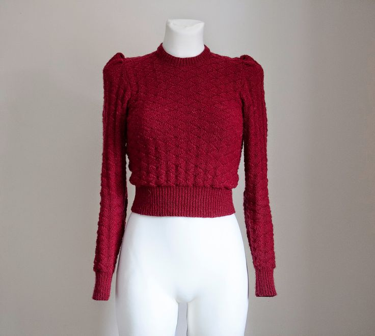 "Finished: ""In Vintage Tone"" 1940s Knitted Jumper"