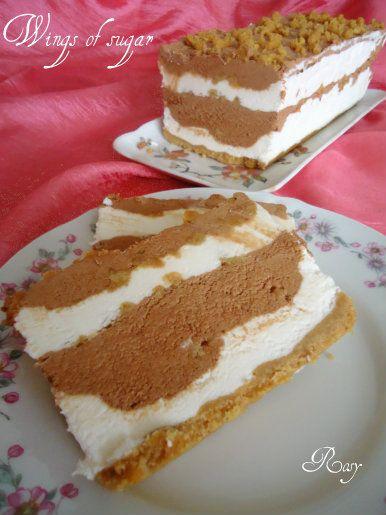 mattonella gelato al cioccolato fetta
